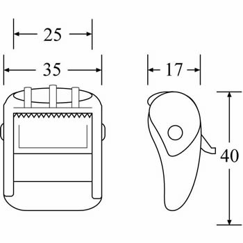 CB2502PC - Plastic Cam Buckle - Diagram