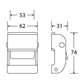 CB5014 - Cam Buckle - Diagram