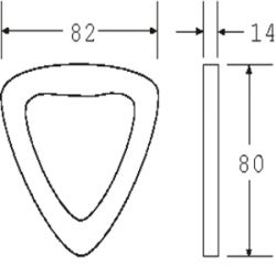 DR5050DF - Drop Forged Delta Ring - Diagram