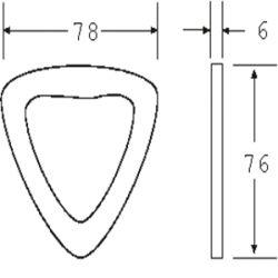 DR5050F - Flat Pressed Delta Ring - Diagram