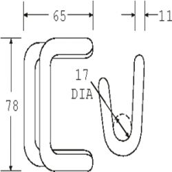 HDR5050C - Closed Rave Hook - Diagram