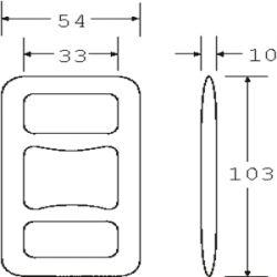 OWB3030 - Drop Forged One Way Buckle - Diagram