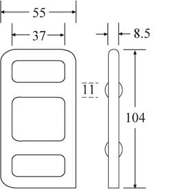 OWB3030W - Wire One Way Buckle - Diagram