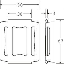 OWB3515P - Pressed Steel One Way Buckle - Diagram