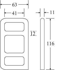 OWB4040W-SS - Stainless Steel Wire One Way Buckle - Diagram