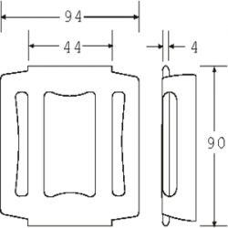 OWB5020P - Pressed Steel One Way Buckle - Diagram