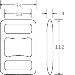 OWB5050 - Drop Forged One Way Buckle - Diagram