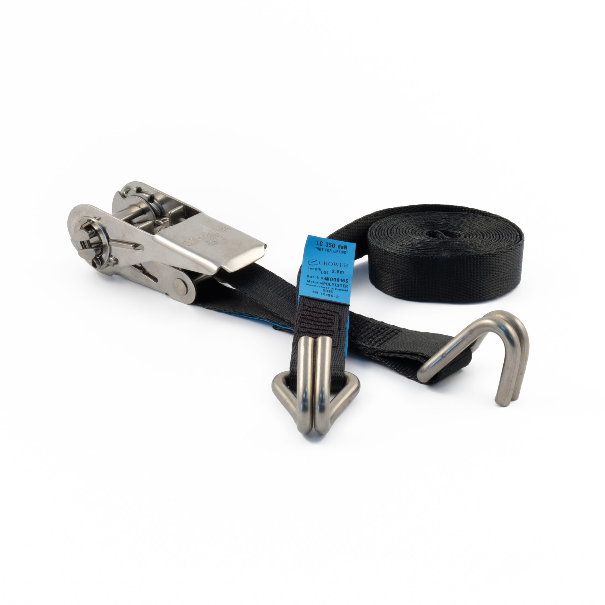 25mm Stainless Steel Ratchet Straps With Wire Claw Hooks Gtf