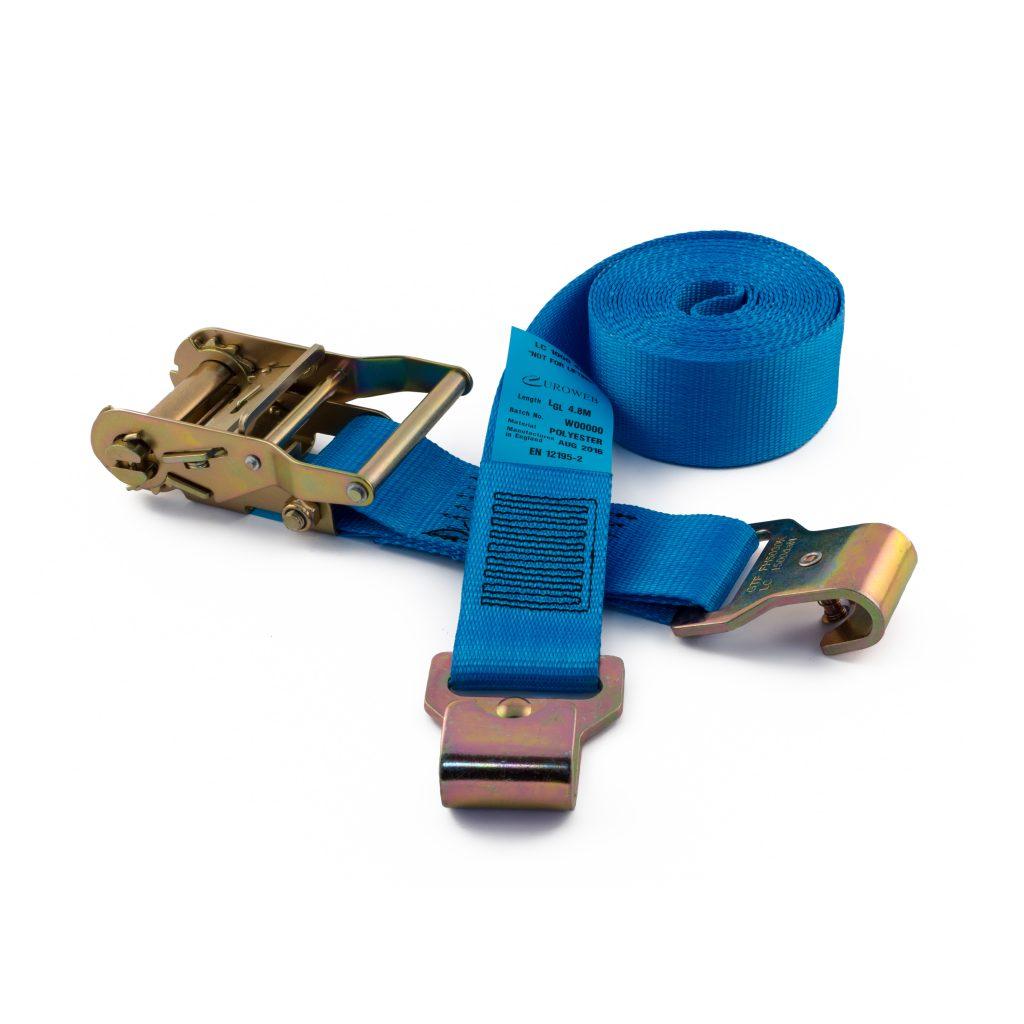50mm ratchet straps with flat pressed hooks rated to 2000kg gtf. Black Bedroom Furniture Sets. Home Design Ideas