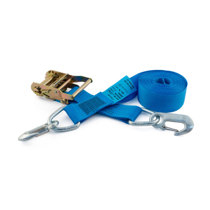 RLL50RSHD - 50mm 2000kgs Ratchet Strap with rope hooks and delta