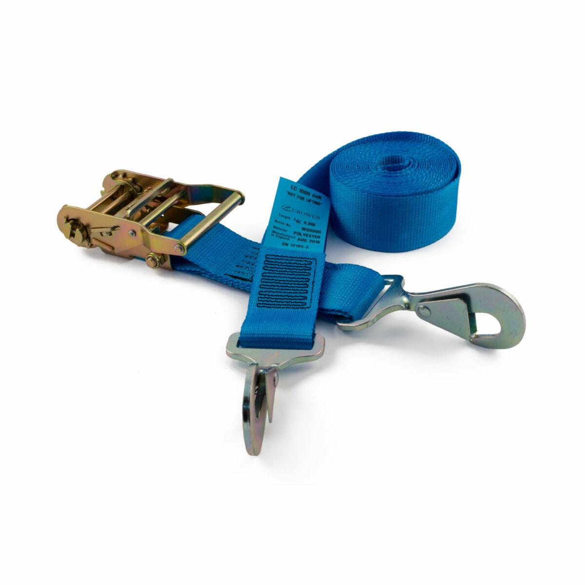 50mm ratchet straps with twisted snap hooks rated to 2000kg gtf. Black Bedroom Furniture Sets. Home Design Ideas