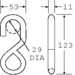 SHOOK2515 - S Hook - Diagram