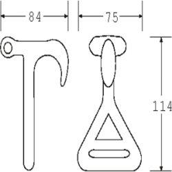 TTH5024 - Twisted T Hook - Diagram