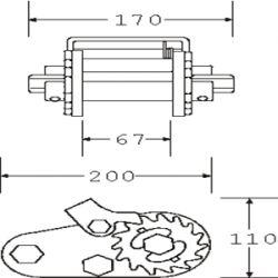 TW65200 - Galvanised Trailer Winch - Diagram