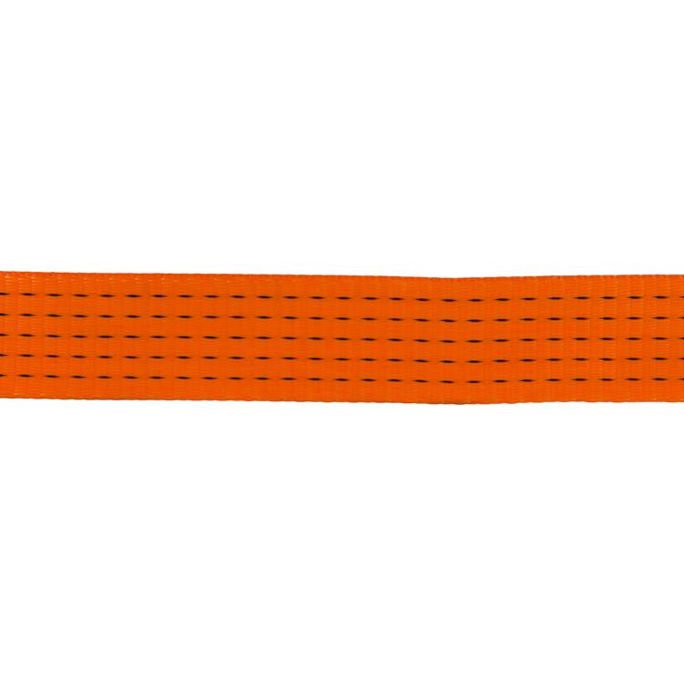 50mm Polyester Orange Webbing Rated At 7500kg Gtf