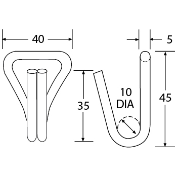 WH2514 - Wire Hook