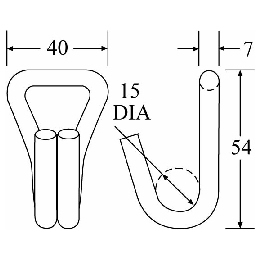 WH2516 - Wire Hook - Diagram