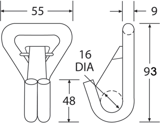 WH3530SNAP - Wire Snap Hook - Diagram